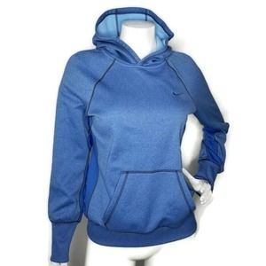 Nike Therma-Fit Hoodie Size M Blue Color Block